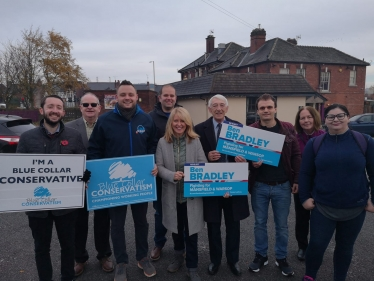 Conservative team campaigning